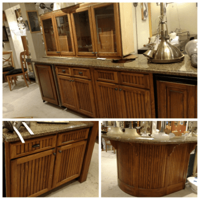 Reclaimed recycled cabinetry