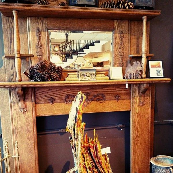 Oak Fireplace Front