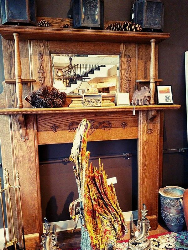 Oak Fireplace Full Picture