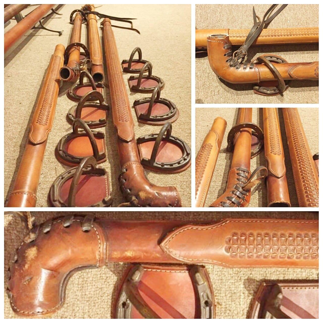 leather bar rail