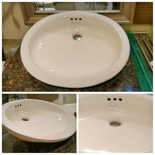Reclaimed undermount sink