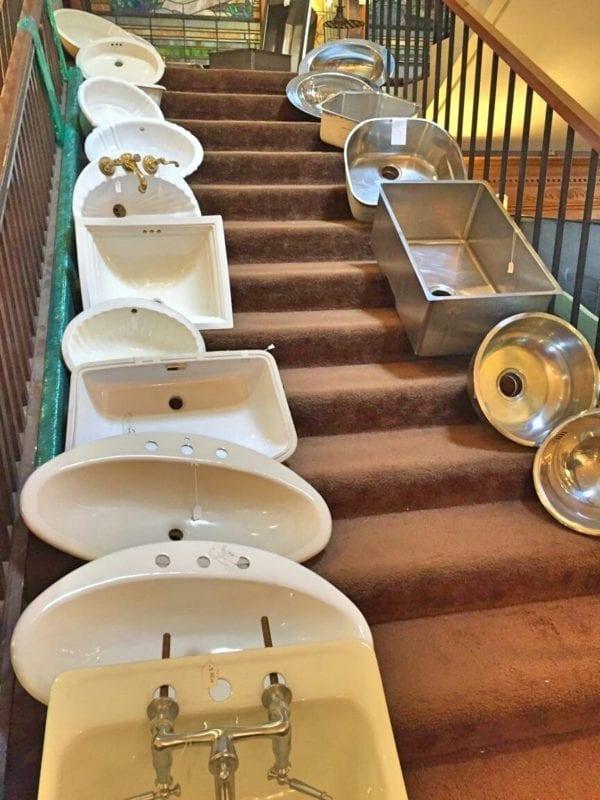 Reclaimed sinks